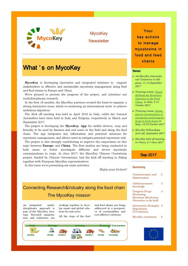 Newsletter Sept 2017 - What's on MycoKey Image