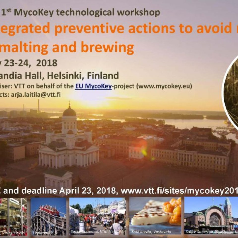 MycoKey workshop_Helsinki 2018_VTT_frontpage